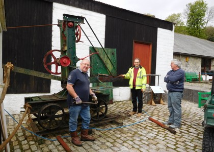 Mobile crane at Wheal Martyn - restoration begins