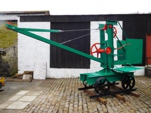 Mobile crane at Wheal Martyn
