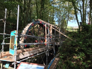 Waterwheel repairs at Wheal Martyn