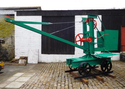 Mobile crane at Wheal Martyn - restoration complete