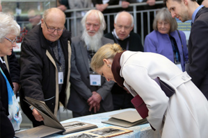 HRH Countess of Wessex looks through archive photographs