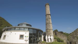 wheal martyn building and chimney