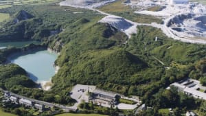 aerial view of wheal martyn