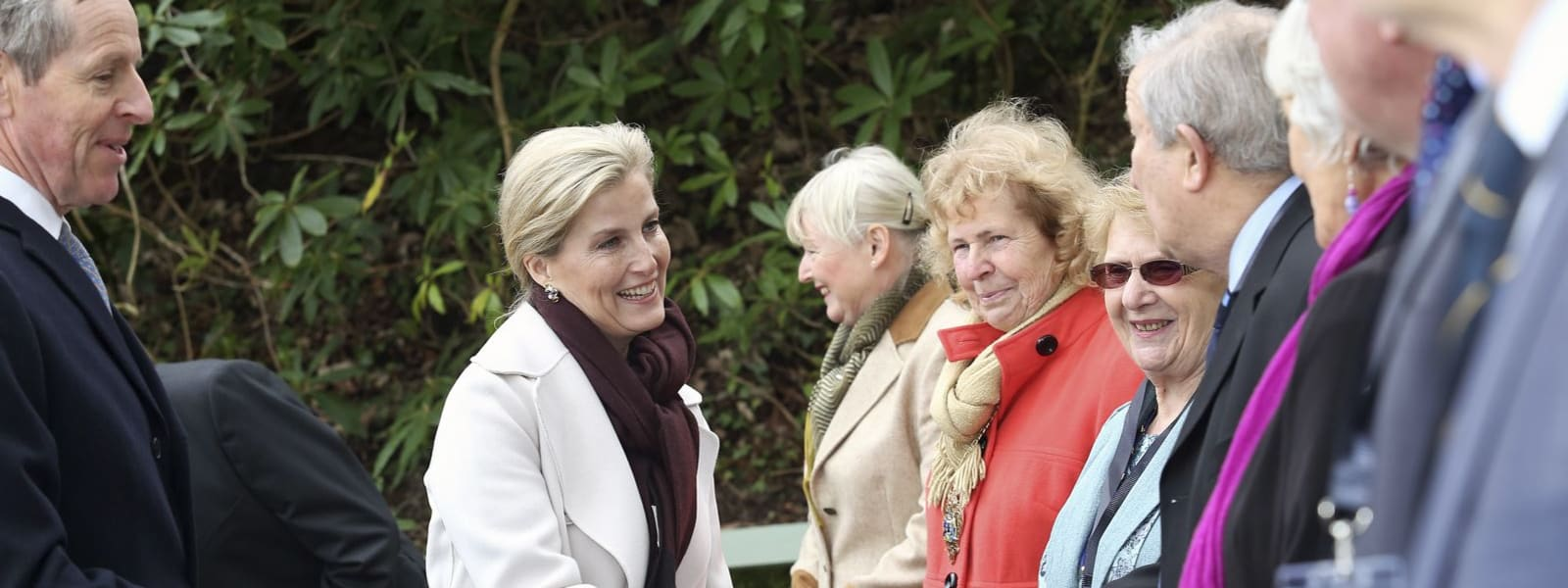 HRH Countess of Wessex meeting people at Wheal Martyn