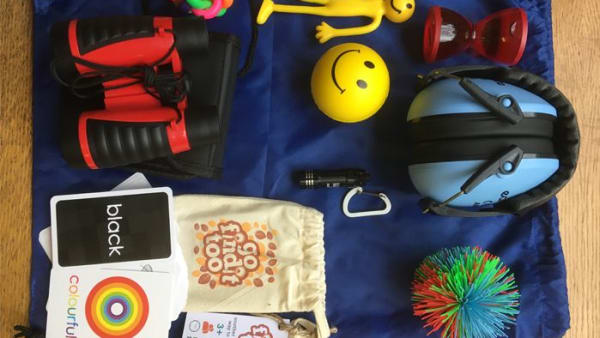 contents of a sensory bag